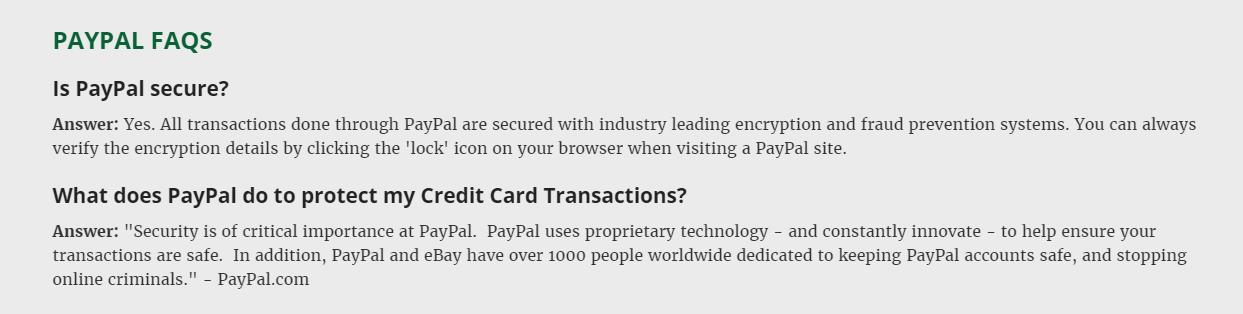 Paypal Facts for Website